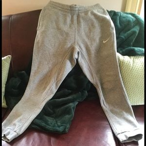 NIKE Men's Gray Sweatpants, SZ S